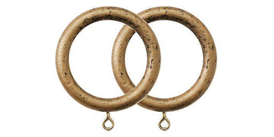 Jones Cathedral 30mm Antique Gold Curtain Rings (Pack Size 4)-Curtain Poles Emporium