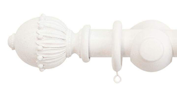 Jones Cathedral 30mm Cotton Curtain Pole Wells finial-Curtain Poles Emporium