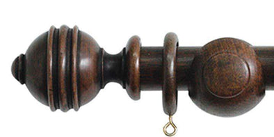 Jones Cathedral 30mm Oak Curtain Pole Ely finial-Curtain Poles Emporium