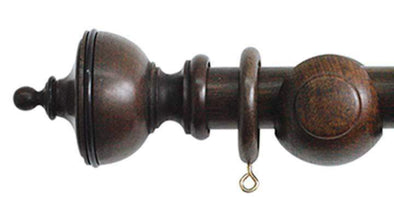 Jones Cathedral 30mm Oak Curtain Pole Exeter finial-Curtain Poles Emporium