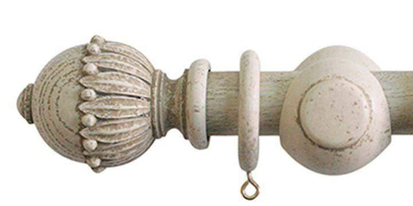 Jones Cathedral 30mm Putty Curtain Pole Wells finial-Curtain Poles Emporium
