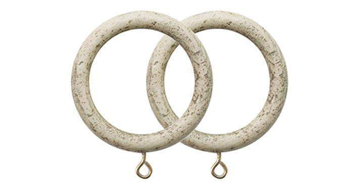 Jones Cathedral 30mm Putty Curtain Rings (Pack Size 4) - Curtain Poles Emporium