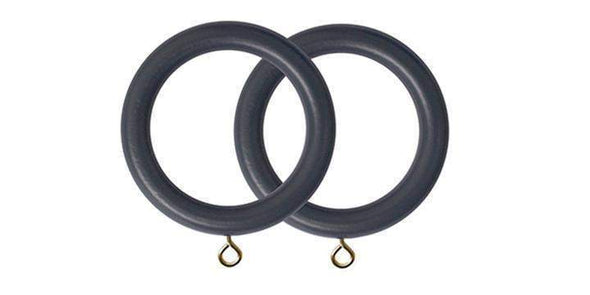 Jones Estate Basalt 50mm Curtain Pole Rings (Pack 4)-Curtain Poles Emporium