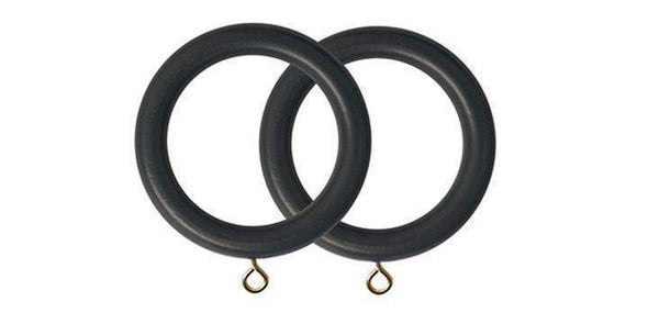 Jones Estate Charcoal 50mm Curtain Pole Rings (Pack 4)-Curtain Poles Emporium