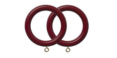 Jones Estate Claret 50mm Curtain Pole Rings (Pack 4)-Curtain Poles Emporium