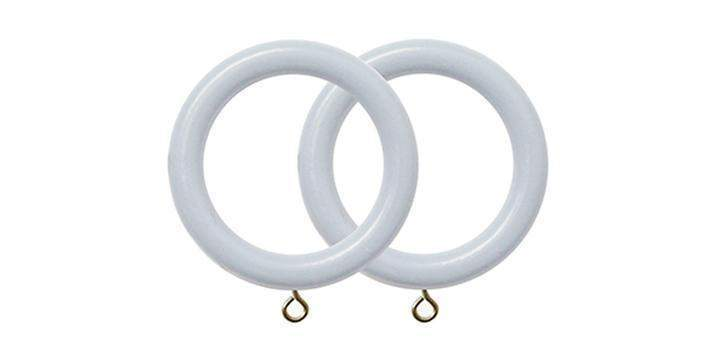 Jones Estate Shingle 50mm Curtain Pole Rings (Pack 4) - Curtain Poles Emporium