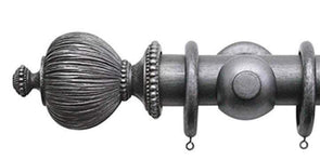 Jones Florentine 50mm Pewter Curtain Pole Pleated Finial-Curtain Poles Emporium