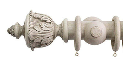 Jones Florentine 50mm Putty Curtain Pole Acanthus Finial-Curtain Poles Emporium