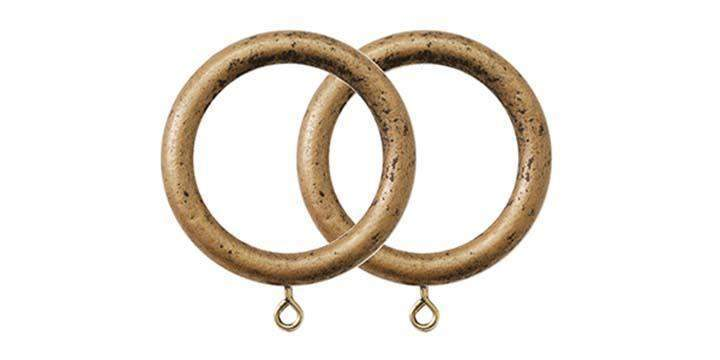 Jones Florentine Antique Gold 50mm Curtain Pole Rings (Pack 4) - Curtain Poles Emporium