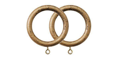 Jones Florentine Antique Gold 50mm Curtain Pole Rings (Pack 4)-Curtain Poles Emporium
