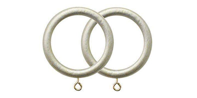 Jones Florentine Champagne Silver 50mm Curtain Pole Rings (Pack 4)-Curtain Poles Emporium