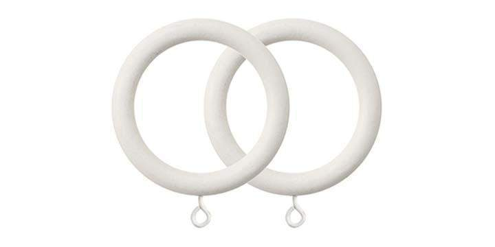 Jones Florentine Cotton 50mm Curtain Pole Rings (Pack 4) - Curtain Poles Emporium