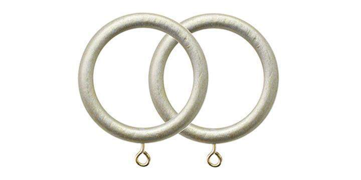Jones Grande Champagne Silver 63mm Curtain Pole Rings (Pack 4) - Curtain Poles Emporium