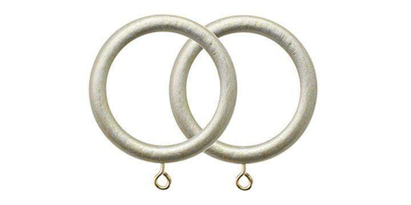 Jones Grande Champagne Silver 63mm Curtain Pole Rings (Pack 4)-Curtain Poles Emporium