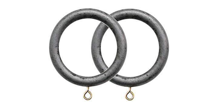Jones Grande Pewter 63mm Curtain Pole Rings (Pack 4) - Curtain Poles Emporium