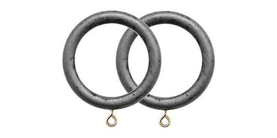Jones Grande Pewter 63mm Curtain Pole Rings (Pack 4)-Curtain Poles Emporium