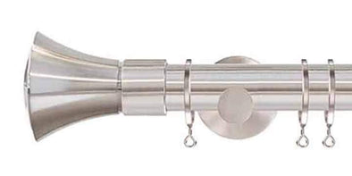 Jones Interiors Strand 35mm Matt Nickel Curtain Pole Cone Finial-Curtain Poles Emporium