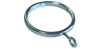 Jones Lunar 28mm Curtain Pole Ring Matt Nickel-Curtain Poles Emporium