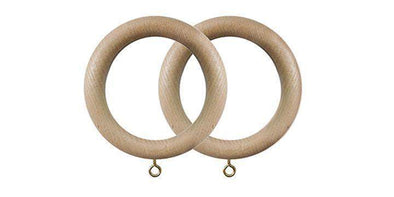Jones Oakham 50mm Ash Curtain Rings (Pack of 4)-Curtain Poles Emporium