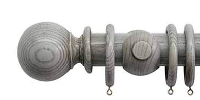 Jones Oakham 50mm Dove Curtain Pole Ball Finial-Curtain Poles Emporium