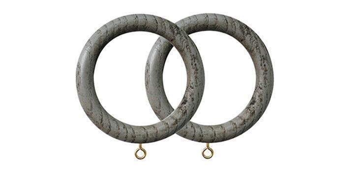 Jones Oakham 50mm Dove Curtain Rings (Pack of 4) - Curtain Poles Emporium