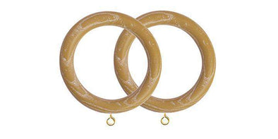 Jones Oakham 50mm Honey Curtain Rings (Pack of 4)-Curtain Poles Emporium