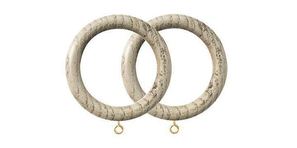 Jones Oakham 50mm Truffle Curtain Rings (Pack of 4)-Curtain Poles Emporium