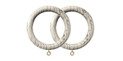 Jones Oakham 50mm Tusk Curtain Rings (Pack of 4)-Curtain Poles Emporium