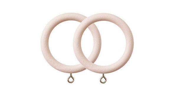 Jones Seychelles 40mm Wooden Blush Curtain Rings (Pack of 4)-Curtain Poles Emporium