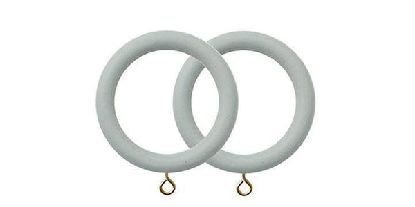 Jones Seychelles 40mm Wooden Haze Curtain Rings (Pack of 4)-Curtain Poles Emporium