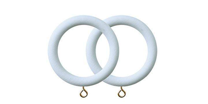 Jones Seychelles 40mm Wooden Mist Curtain Rings (Pack of 4) - Curtain Poles Emporium