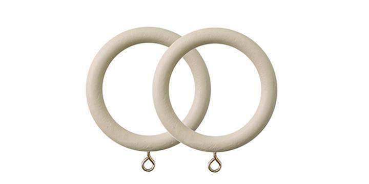 Jones Seychelles 40mm Wooden Sand Curtain Rings (Pack of 4) - Curtain Poles Emporium