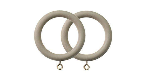 Jones Seychelles 40mm Wooden Truffle Curtain Rings (Pack of 4)-Curtain Poles Emporium