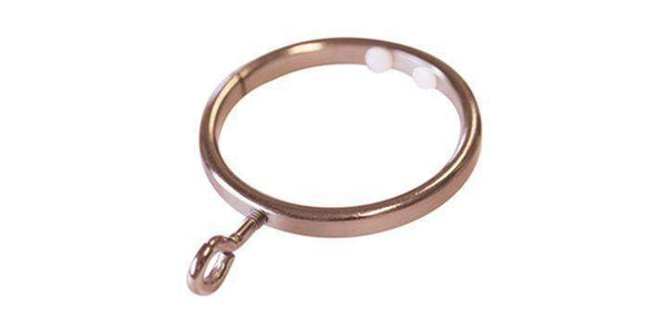 Jones Strand 35mm Rose Gold Curtain Pole Ring (Pack Size 6)-Curtain Poles Emporium