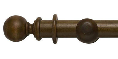 Modern Country 45mm Dark Oak Curtain Pole Ball Finial-Curtain Poles Emporium