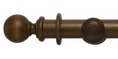 Modern Country 55mm Dark Oak Curtain Pole Ball Finial-Curtain Poles Emporium