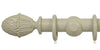 Opus Studio Painted Solid Colour Sage Grey 35mm Wooden Curtain Pole Pineapple Finial