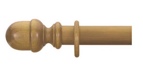 Cameron Fuller 63mm Antique Pine Curtain Pole Acorn Finial - Curtain Poles Emporium