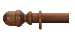 Cameron Fuller 50mm Light Oak Curtain Pole Acorn Finial - Curtain Poles Emporium