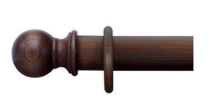 Cameron Fuller 35mm Walnut Curtain Pole Ball Finial - Curtain Poles Emporium