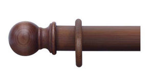 Cameron Fuller 35mm Mahogany Curtain Pole Ball Finial - Curtain Poles Emporium