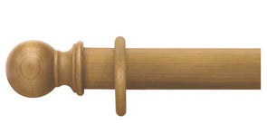 Cameron Fuller 35mm Antique Pine Curtain Pole Ball Finial - Curtain Poles Emporium