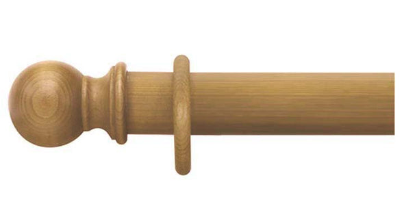 Cameron Fuller 50mm Antique Pine Curtain Pole Ball Finial - Curtain Poles Emporium