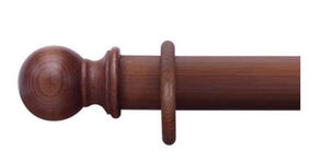 Cameron Fuller 35mm Red Mahogany Curtain Pole Ball Finial - Curtain Poles Emporium