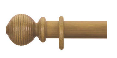 Cameron Fuller 63mm Antique Pine Curtain Pole Beehive Finial - Curtain Poles Emporium