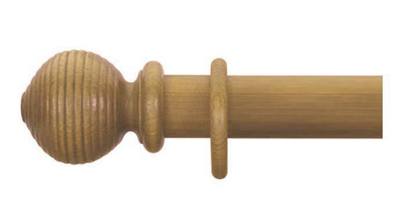 Cameron Fuller 35mm Antique Pine Curtain Pole Beehive Finial - Curtain Poles Emporium