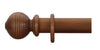 Cameron Fuller 50mm Light Oak Curtain Pole Beehive Finial - Curtain Poles Emporium