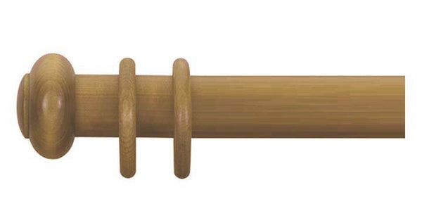 Cameron Fuller 50mm Antique Pine Curtain Pole Button Finial - Curtain Poles Emporium