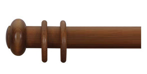 Cameron Fuller 50mm Light Oak Curtain Pole Button Finial - Curtain Poles Emporium
