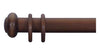 Cameron Fuller 50mm Mahogany Curtain Pole Button Finial - Curtain Poles Emporium